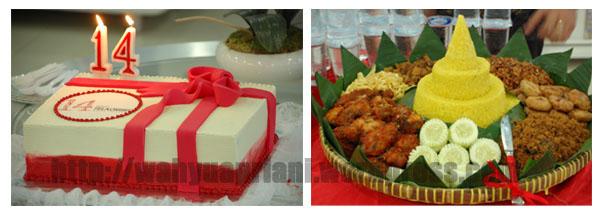 Kue Ulang Tahun dan Tumpeng